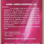 PARENTS - ALUMNI CONVENTION